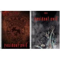 Pacote C/2 Cadernos - Resident Evil /10 Matérias - Tilibra