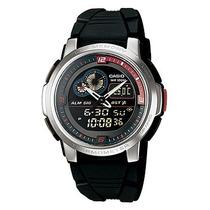 Relógio Casio Mundial Aqf 102w 1bv Termometro H. Mundial