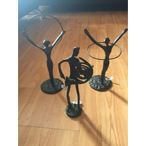 Estatuilla De Metal Con Silueta De Músico O Bailarina