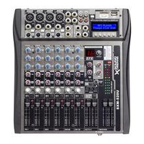 Consola Mixer De Audio 8 Ch Controles Deslizables Usb Mp3