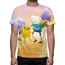 Camisa, Camiseta Hora De Aventura Mod 02 - Estampa Total