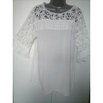 Blusas Camisas Sociais Femininas Rendada Guipir 3/4 + Brinde