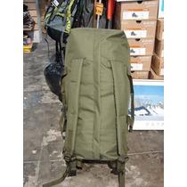 Bolso Mochila Tipo Militar (verde-negro) Local- Caba