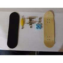 Fingerboard Skate De Dedo Profissional Madeira Rolamento