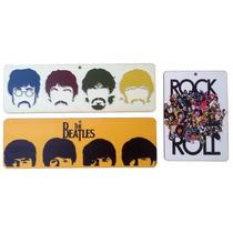 Kit 3 Placa Decorativa Beatles P/ Salas Bares Churrasqueira