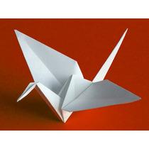 Grullas Blancas De Origami X 100