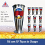 Conjunto C/ 10 Taça Tulipa Chopp Em Alumínio 300 Ml