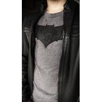 Playera Batman Artesana (logo De Piel)