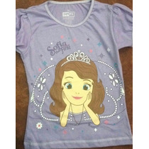 Franelas Para Niña Princesa Sofia Talla 6