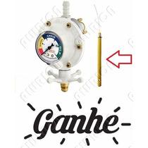 Válvula Registro Vergas Para Botijão De Gás Com Manômetro