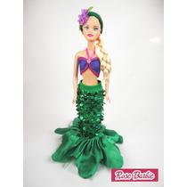 Fantasia Sereia Iara Boneca Barbie Festa Decoração Infantil