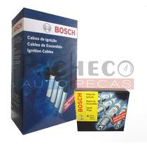 Kit De Cabos E Velas De Chevrolet Onix 1.0 - 1.4 Bosch