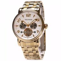 Relógio Technos Automático Dourado 2l27ab/4k 35jewels+frete
