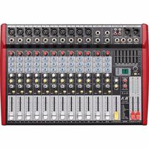 Mesa De Som Amplificada 14 Canais + Reverb + Efx . 800w Rms