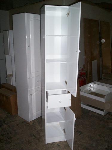 mueble placard baño laqueado estantes toallero especial - $ 2.199 ... - Muebles Toalleros Para Banos