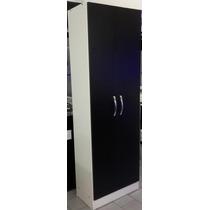 Despensero Organizador De Cocina 2 Puertas Negras 1.80 M