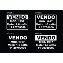 Cartel Vendo Auto / Moto Calco, Sticker Vinilo Venta X 3un