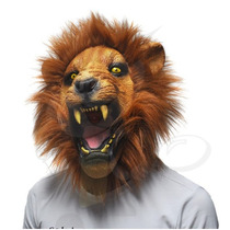Máscara De Leão Ralista Em Látex Halloween Carnaval