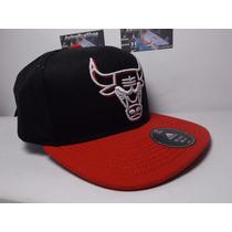 Gorra Adidas Chicago Bulls Black Bordada Autentica