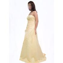 Vestido De Quince Años Color Amarillo Talla ¨m¨ Americano