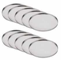 Kit 50 Fôrmas Para Mini Pizzas-forminhas Em Alumínio 16cm