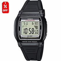Reloj Caballero Casio W201 - Hora Doble - Wr 50m - Cfmx