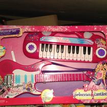 Set Musical De Barbie, Guitarra Y Piano Estrella!