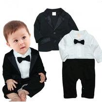 Bebê Macacão Terno Casamento Body Social Smoking Enxoval