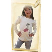Remera Para Nena Con Luces Led. Modelo Bailarina