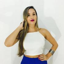 Top Cropped Viscose Estampado, Blusa, Moda, Frente Única.