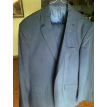Traje Montecristo Azul Y 2 Pantalones Nuevo