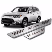 Kit 4 Pçs Soleira Aço Escovado Inox Mitsubishi Outlander