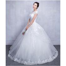 Vestido De Noiva Importado Lindo Renda Princesa Wd33