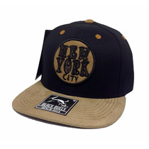 Boné Aba Reta Snapback Black Bulls Skate New York City K-28