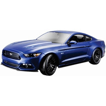 Maisto 1/18 Ford Mustang Gt 2015 Azul Diecast /no Burago