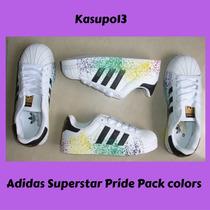 Kp3 Zapatos Adidas Superstar Pride Pack Colors Niños 25-35