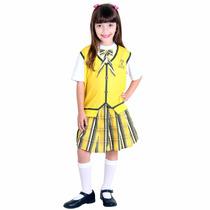Fantasia Carrossel Amarelo Feminino Infantil P Sulamericana