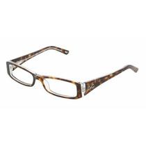Gafas Anteojos D&g Dd Lente Transparente Marco Cafe Con Neg