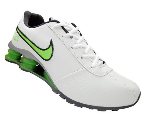76216c1e1f68b7 Tênis Masculino Nike Shox Classic Branco E Verde Homens - R 119