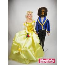 2 Fantasias Roupas Vestidos E Acessórios Para Boneca Barbie