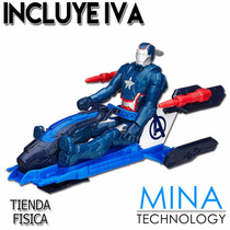 Figura De Accion Iron Man Patriota Con Vehiculo Marvel B0431