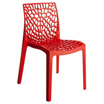 Cadeira Gruvyer Vermelha Italiana Polipropileno Rivatti