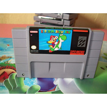 Super Mario World Original Super Nintendo Snes Bateria Nova!