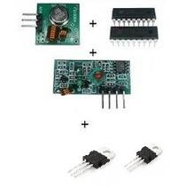 Transmissor+ Receptor+ Encoder Ht12e+ Decoder Ht12d+ Lm7805