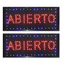 Cartel Led Abierto 48x25 Ilumine Su Local -alta Luminosidad-