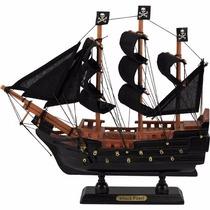 Navio Barco Fragata Pirata Caravela Perola Negra 24cm