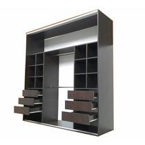Placard 180x240x60 Melamina 2 Cajoneras Manijon De Aluminio