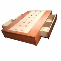 Box Sommier Base Cama 2 Plazas 4 Cajones