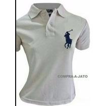 Camisas Polo Hollister Ralph Lauren Femininas Tam. Pmg Gg