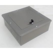 Registro Telefónico 30x30x13cm Cierre De Chapa Caja Metálica